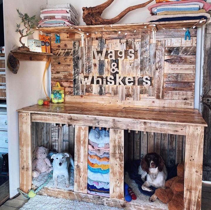 Stylish Pallet Dog House Design
