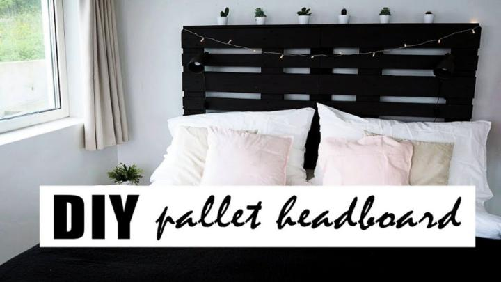The Perfect Pallet Headboard