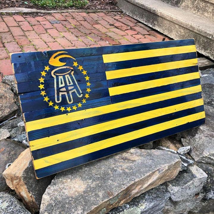 University Of Michigan Pallet Flag