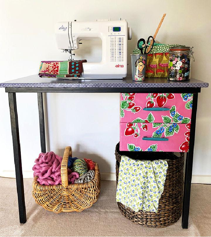 Upcycled DIY Sewing Table