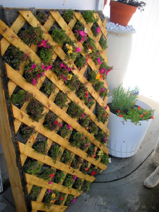 Vertical Pallet Flower Garden