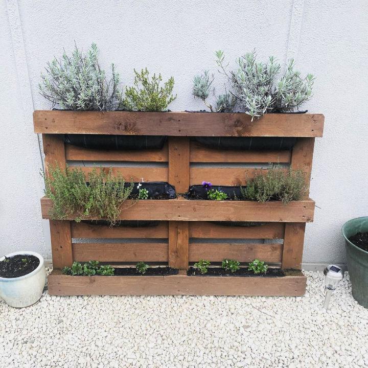 Vertical Pallet Herb Planter Box
