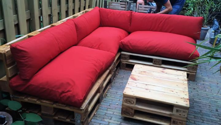 Wood Pallet Couch Plan