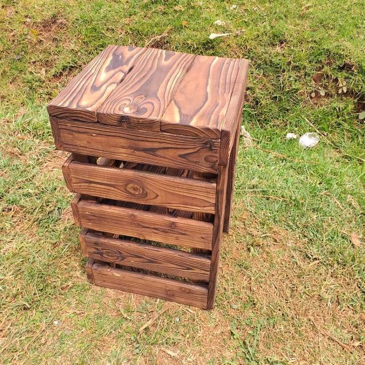 Wooden Pallet Stool Plan