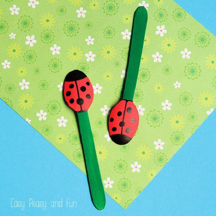 Wooden Spoon Ladybug Puppets